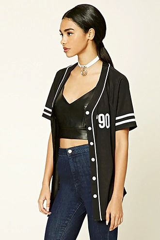 2f0749c0b8dd Made in the 90s Baseball Jersey | forever 21| the latest | Fashion ...