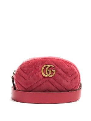 a230cac5d4922 GG Marmont quilted-velvet belt bag