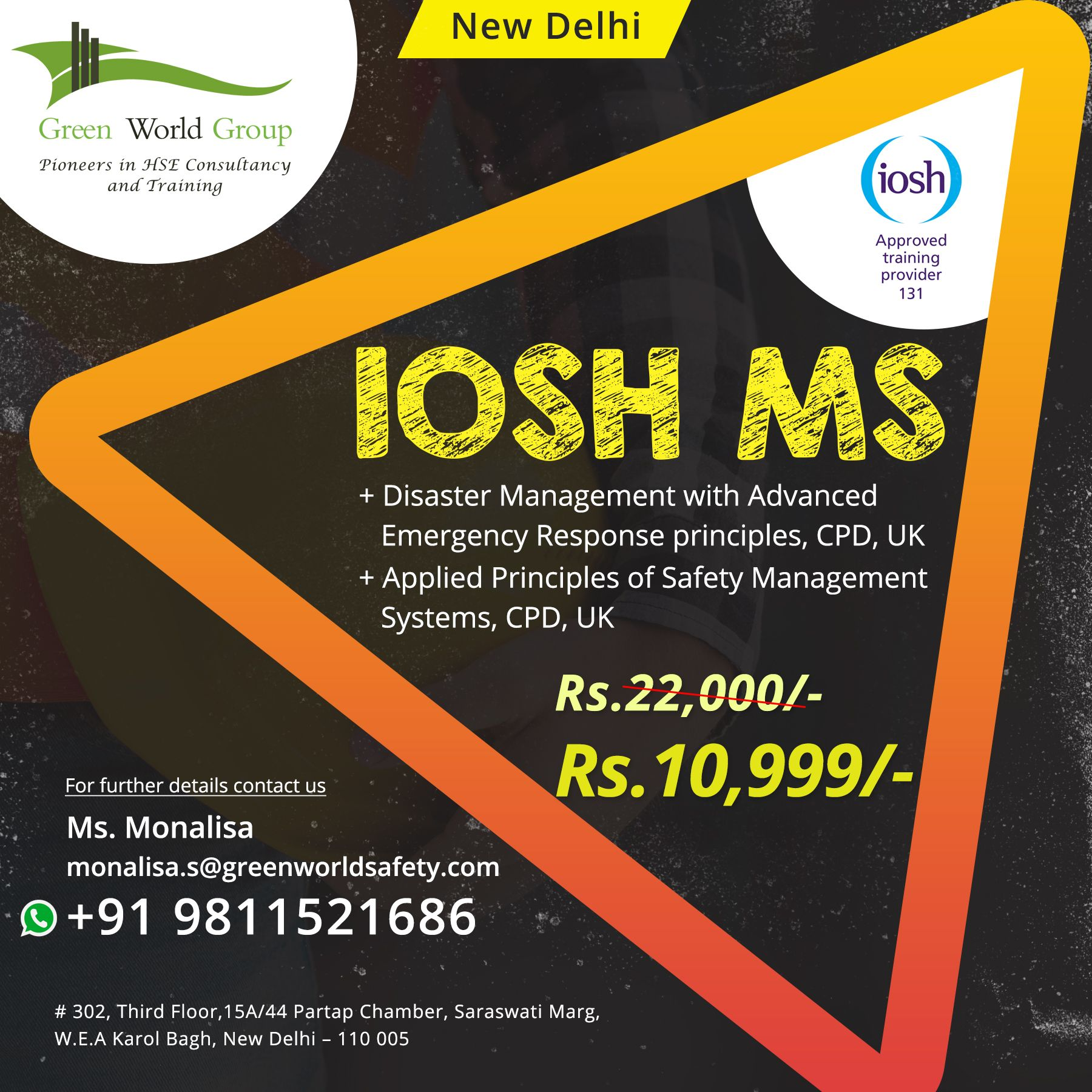 Green World Group provides an exclusive offer for the IOSH
