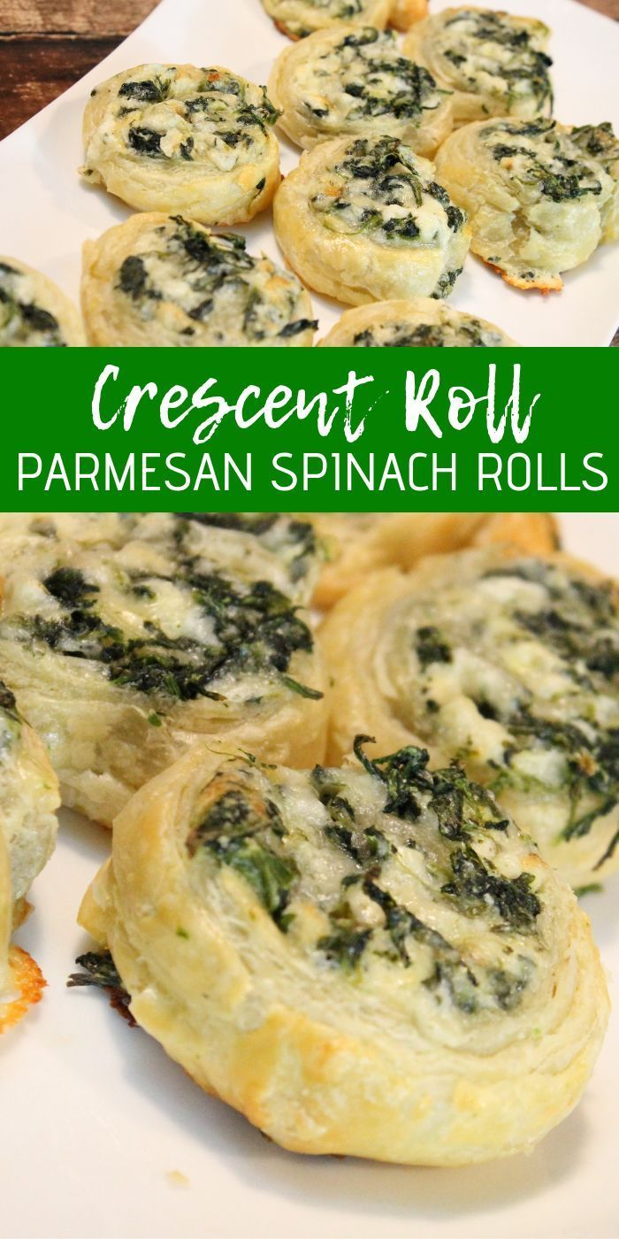 Crescent Roll Parmesan Spinach Rolls! These are SO easy and SO good! The perfect...  - Food porn - #Crescent #Easy #Food #Good #Parmesan #Perfect #porn #Roll #Rolls #Spinach #foodporn