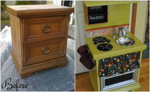 Diy Children S Play Kitchen From An Old Dresser Before And After