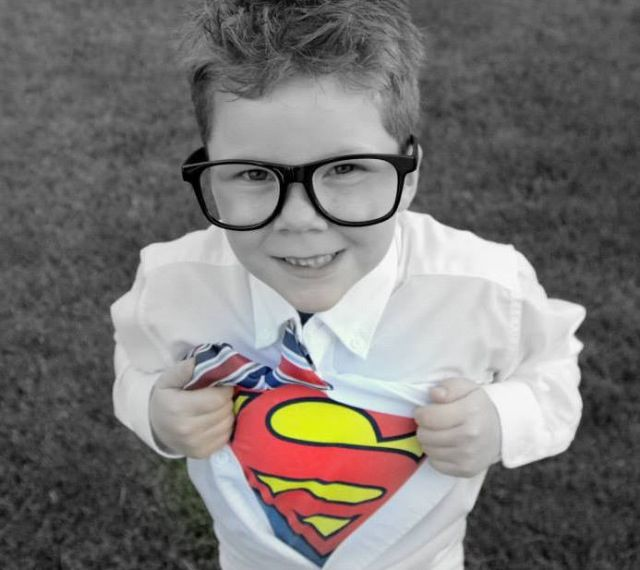 What A Cute Photo Idea For Boy That Age Love The Black And White And Burst Of Color Kids Fashion Fun Kids Photos Superman Photos