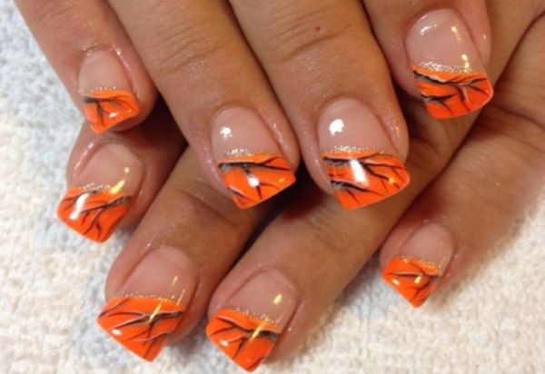 Orange Camouflage Nail Design - 13 Pretty Camouflage Nail Designs In 2018 Nails Pinterest