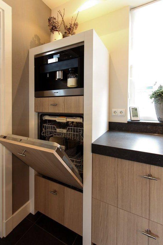 vaatwasser links op handige hoogte Keuken Pinterest Cocinas - cocinas con barra