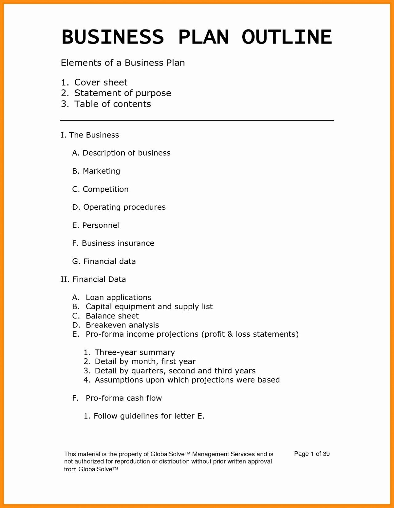 Valid Free Business Plan Template For