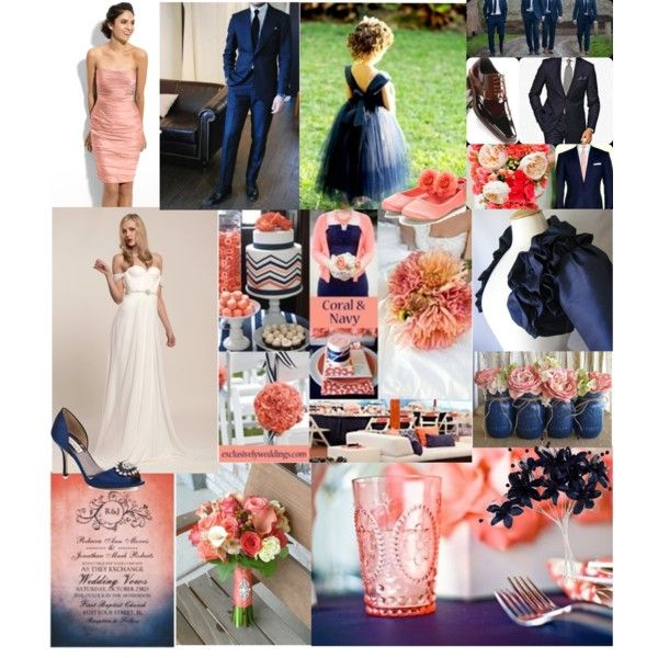 """""""Coral & Navy"""" by jvol1052 on Polyvore"""
