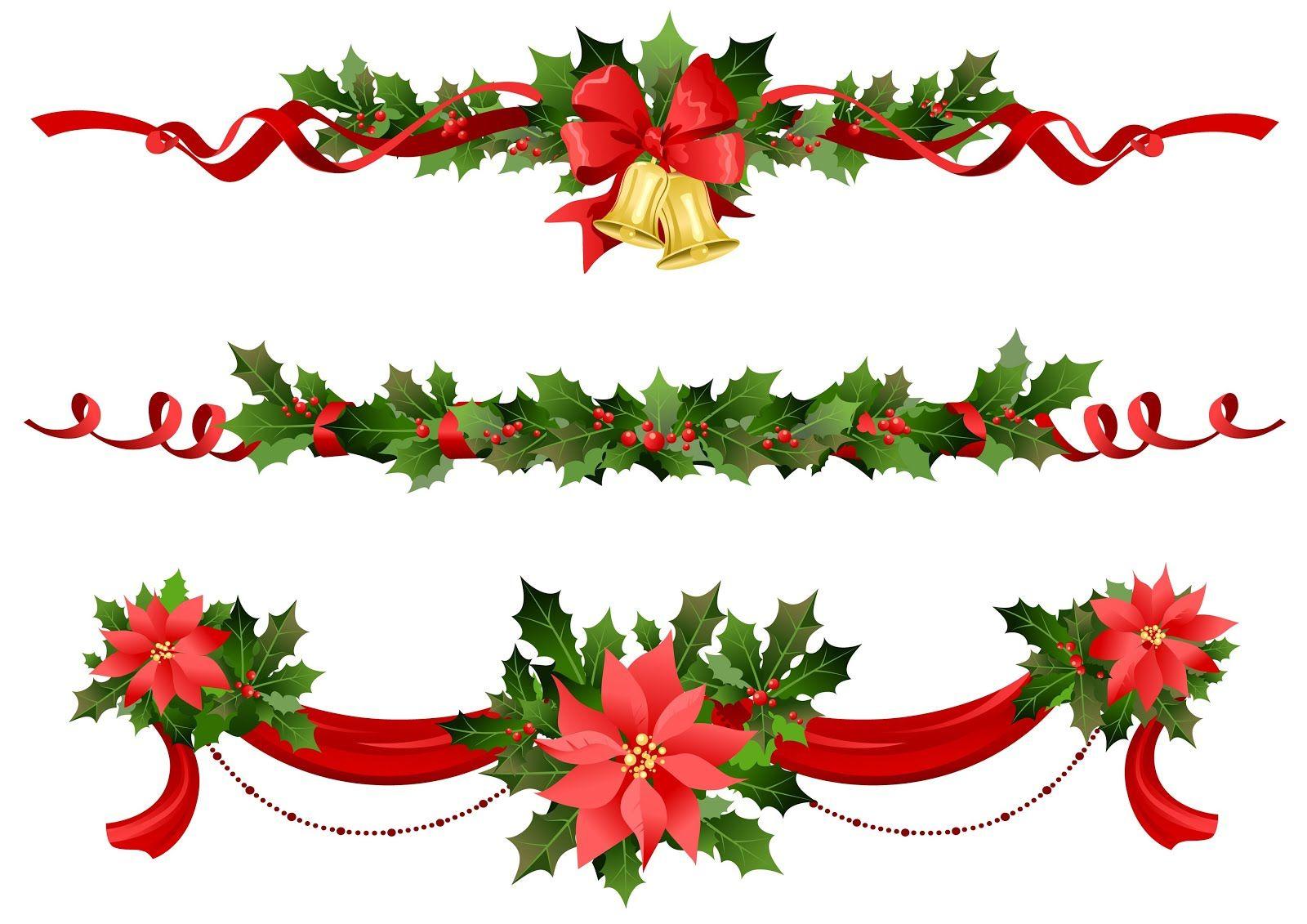 banco de imagenes adornos como guirnaldas o nochebuenas para decorar tarjetas o postales de navidad - Guirnalda De Navidad