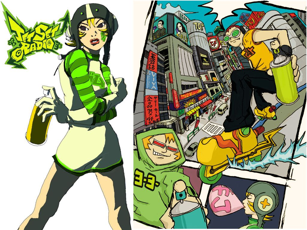 Gum Jet Set Radio Jet Set Radio Radio Moms Sleep