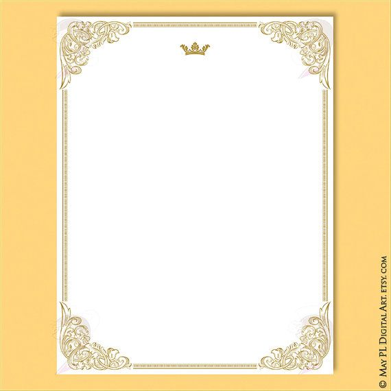 Certificate Borders Clipart - French Design 8x11 Gold Frames perfect ...