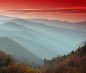The Smoky Mountains have more annual rainfall than anywhere in the United States outside of the Pacific Northwest and Alaska. #travel #tennessee #northcarolina