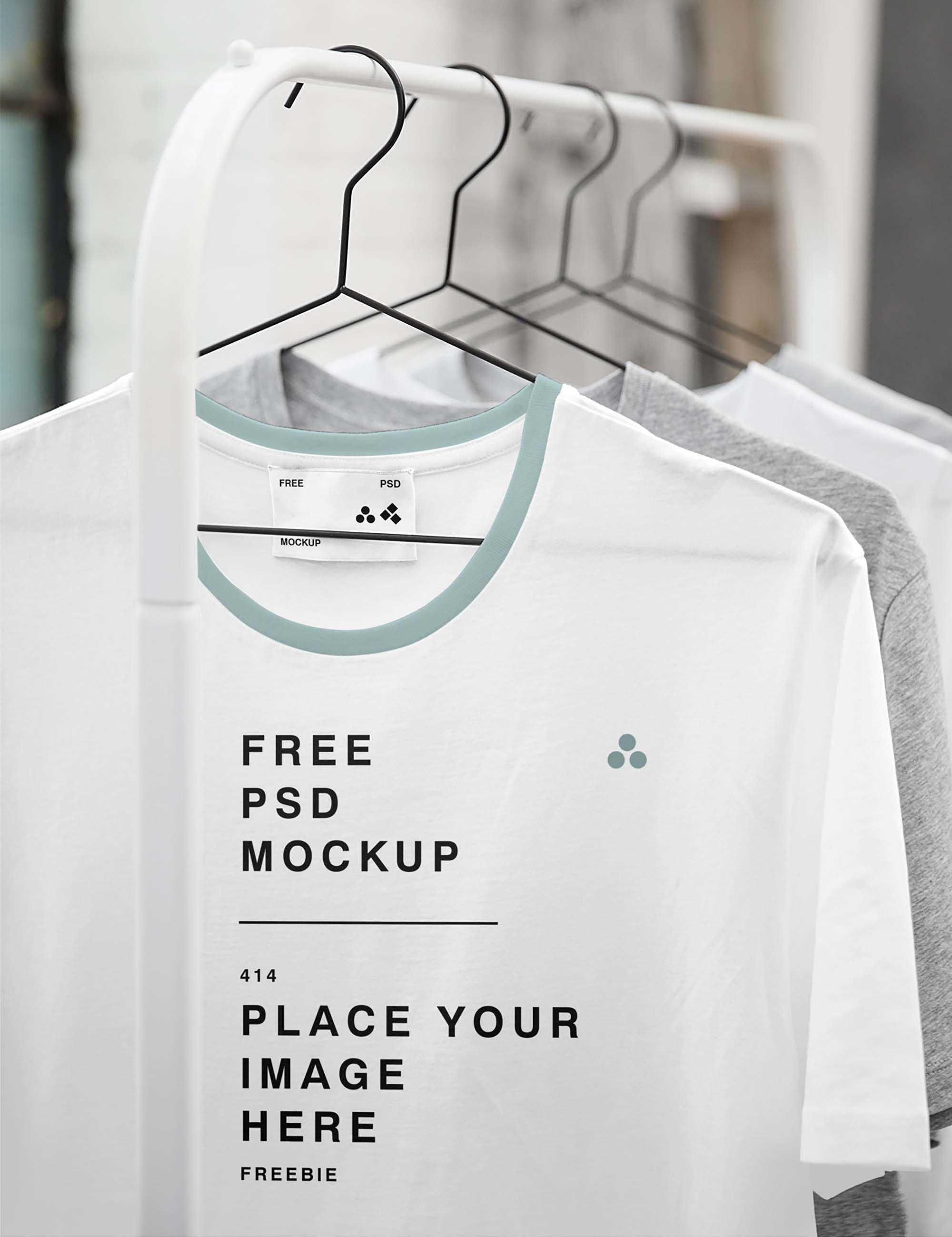 Download Clothing Store Hanged T Shirt Mockup Tshirt Mockup Free Clothing Mockup Tshirt Mockup