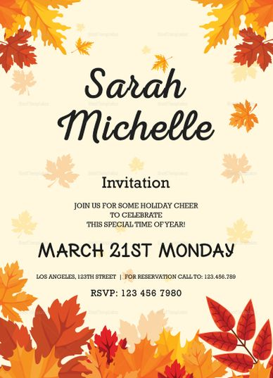 Autumn debut invitation card template invitation card templates autumn debut invitation card design template stopboris Images