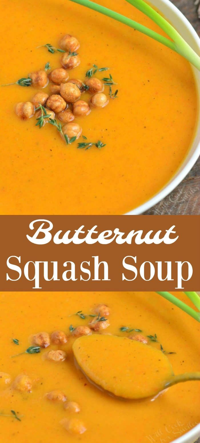 The Best Butternut Squash Soup Butternut Squash Soup is a comforting blended fall soup that is smooth and creamy with a touch of sweetness Its made with a simple vegetabl...