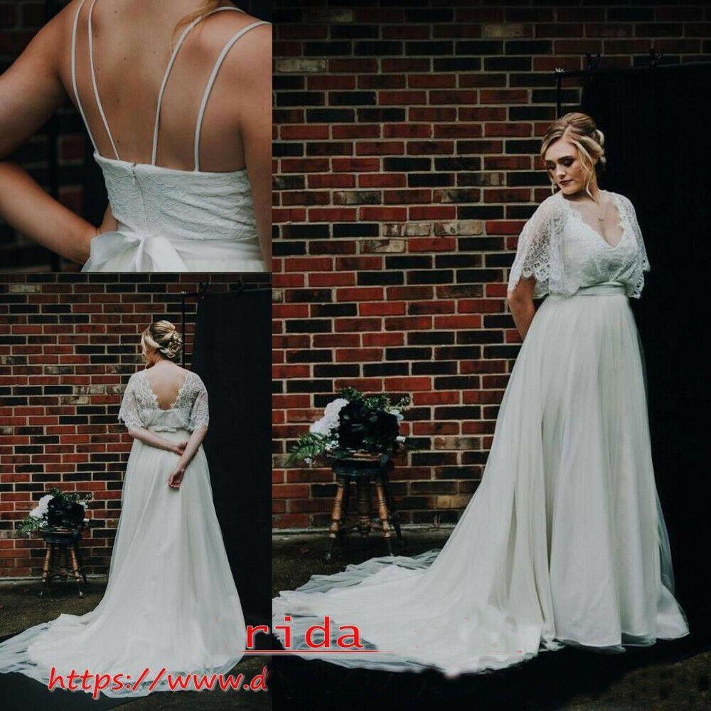 Ad)eBay - Vintage Bohemian Garden Wedding Dresses Plus Size ...
