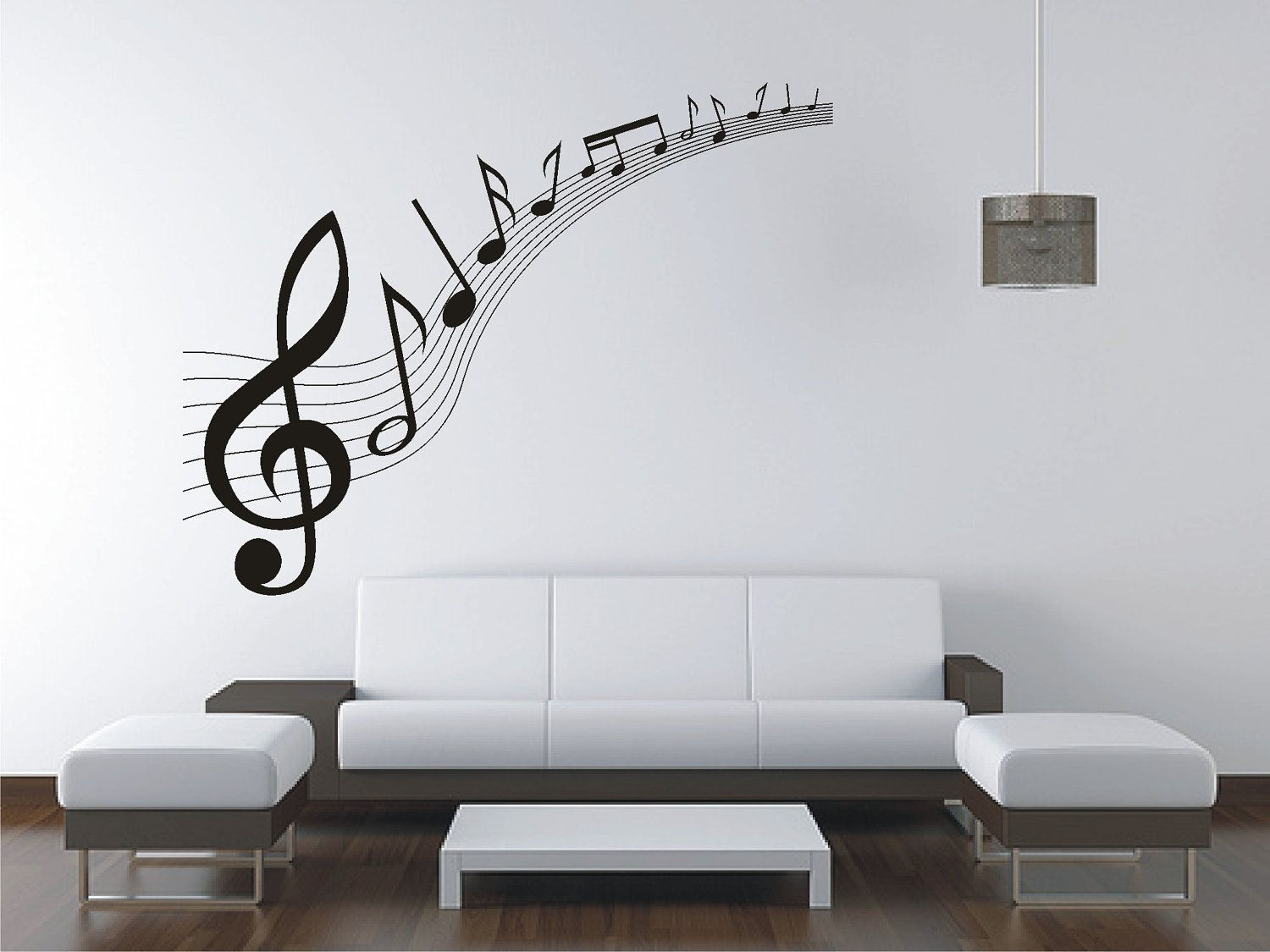 Large Music Music Notes Wall Sticker Vinyl Decal Wall Tattoo