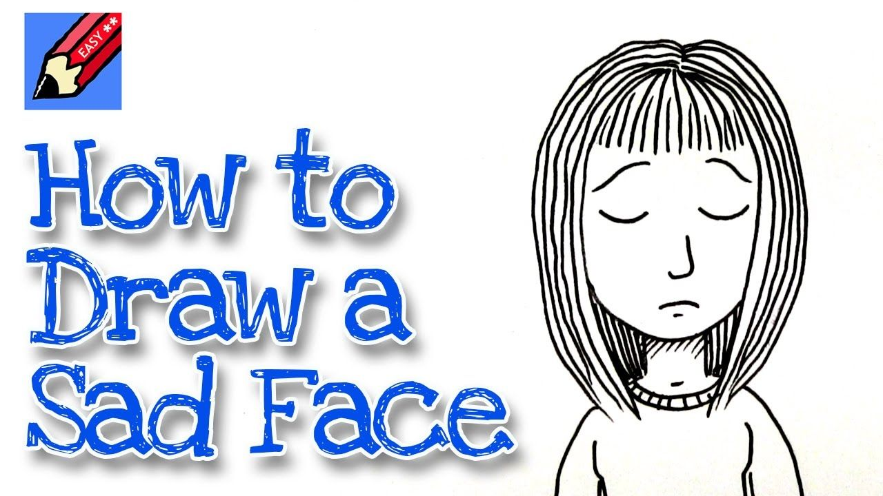 How to draw a sad face real easy for kids and beginners