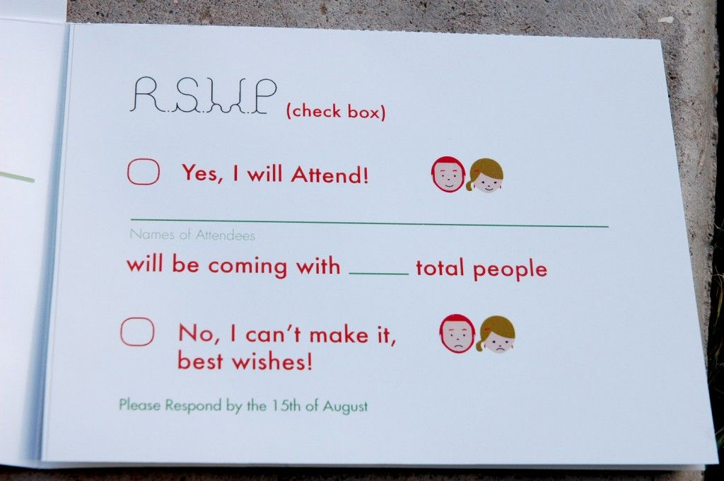 quirky wedding invite rsvp | When they say I do | Pinterest | Quirky ...