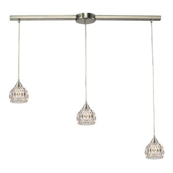 There's a number of reasons you should choose the Elk Lighting 10342/3L Pendants Kersey 3-light Satin Nickel. That is because there's a lot you can do with modern lighting, which has retained simplicity while still managing to complement any modern interior. Call 888-752-5448 and Get the Lowest Price in the Market.