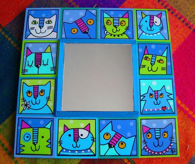 Espejo Gatos Turquesa   Flickr - Inchies Inspiration - Cute Cats