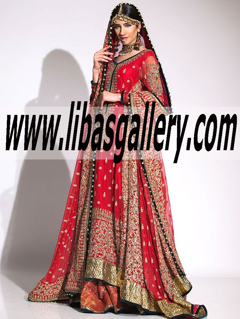 3734a06b79c8 Buy Online Fahad Hussayn Couture Bridal Sharara in Affordable Prices.  Pakistani Dresses Online Collection Bridal