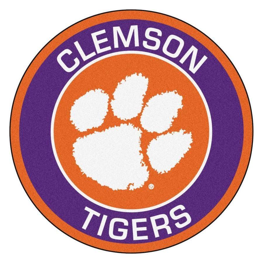 Fanmats Clemson University Roundel Mat 27in Diameter Lowes Com In 2020 Clemson University Clemson Tigers Clemson University Tigers