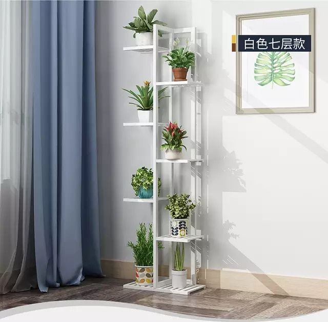 Online Shop Wood material Standing flower shelf .Living