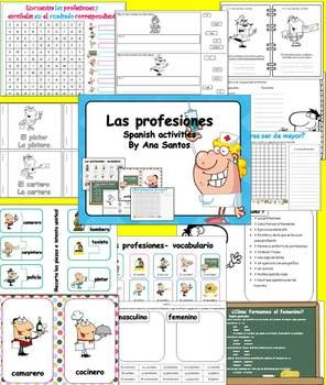 LAS PROFESIONES - SPANISH ACTIVITIES - TeachersPayTeachers.com