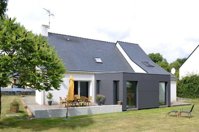 Une Extension De Maison Cubique Et Moderne, Parfaitement Intégrée à  Lu0027existant !