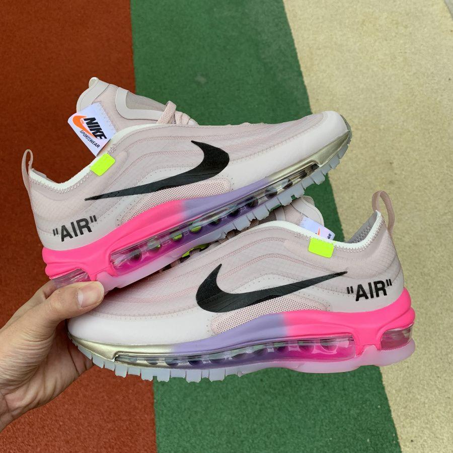 "7a41f4847ca Serena Williams' Off-White x Nike Air Max 97 ""Queen"" Elemental Rose ..."
