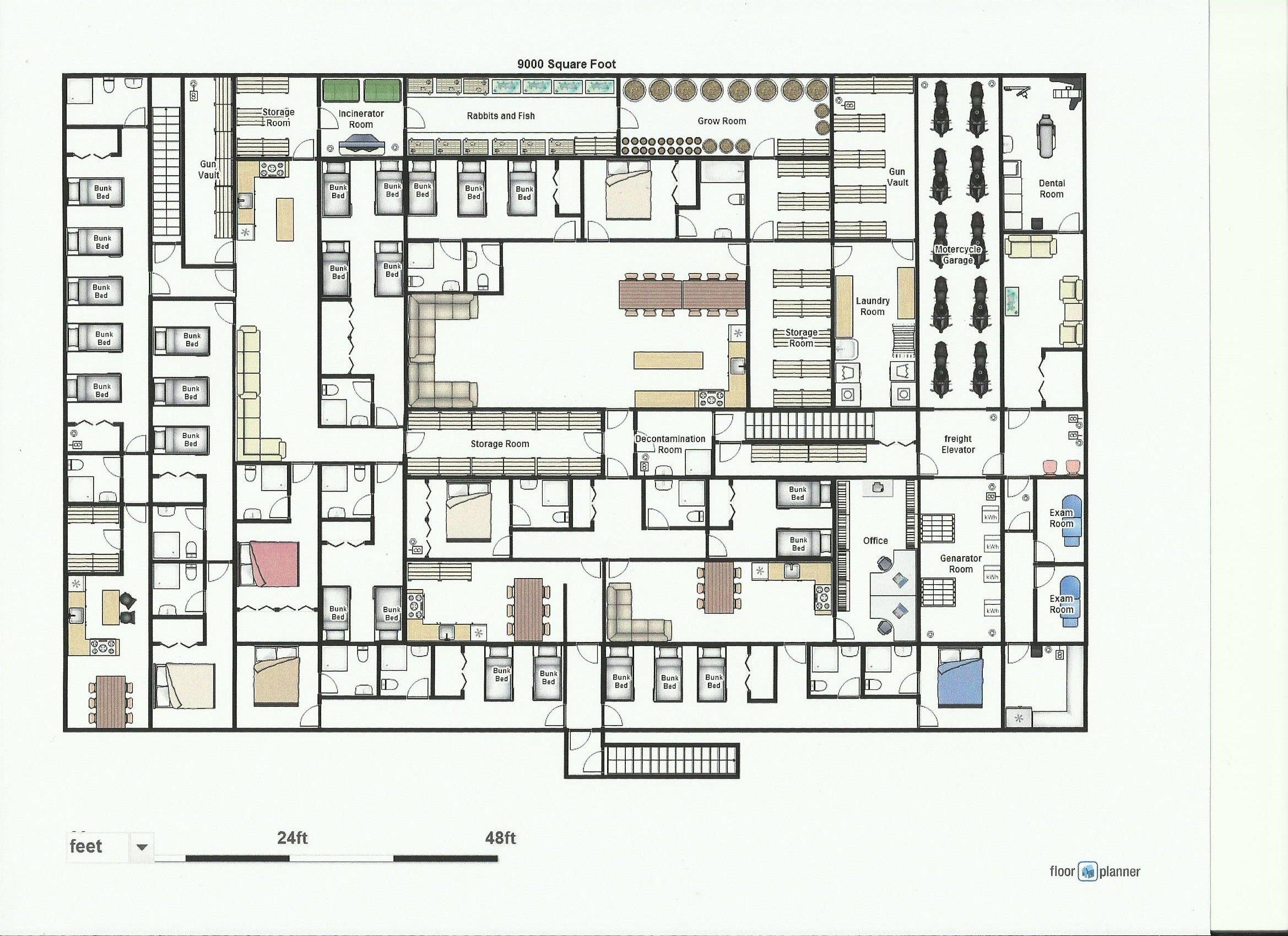Underground shelter floor plans floor matttroy for Underground homes floor plans