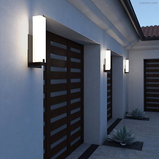 Cosmo 18 Outdoor Led Wall Sconce In 2020 Modern Outdoor Lighting Led Outdoor Wall Lights Outdoor Walls