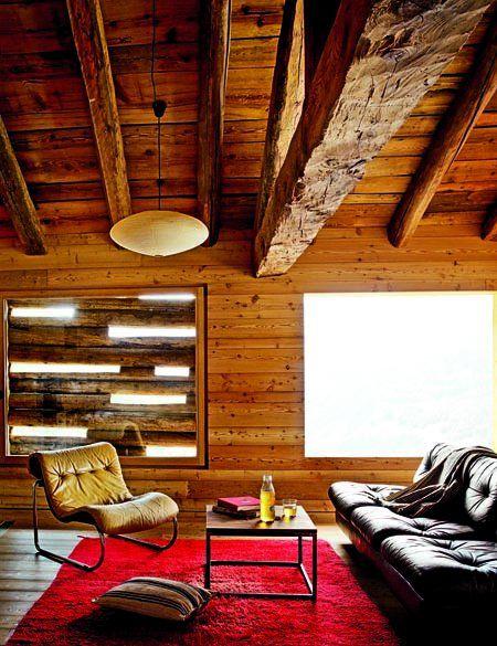 decoration montagnarde decoration salon bois vieux bois salon moderne grange poutres