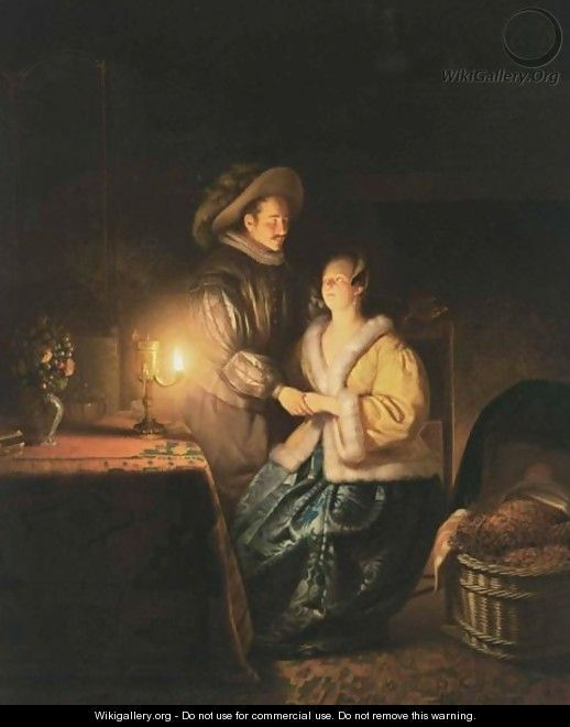 """The Flirtation,""  Petrus van Schendel"