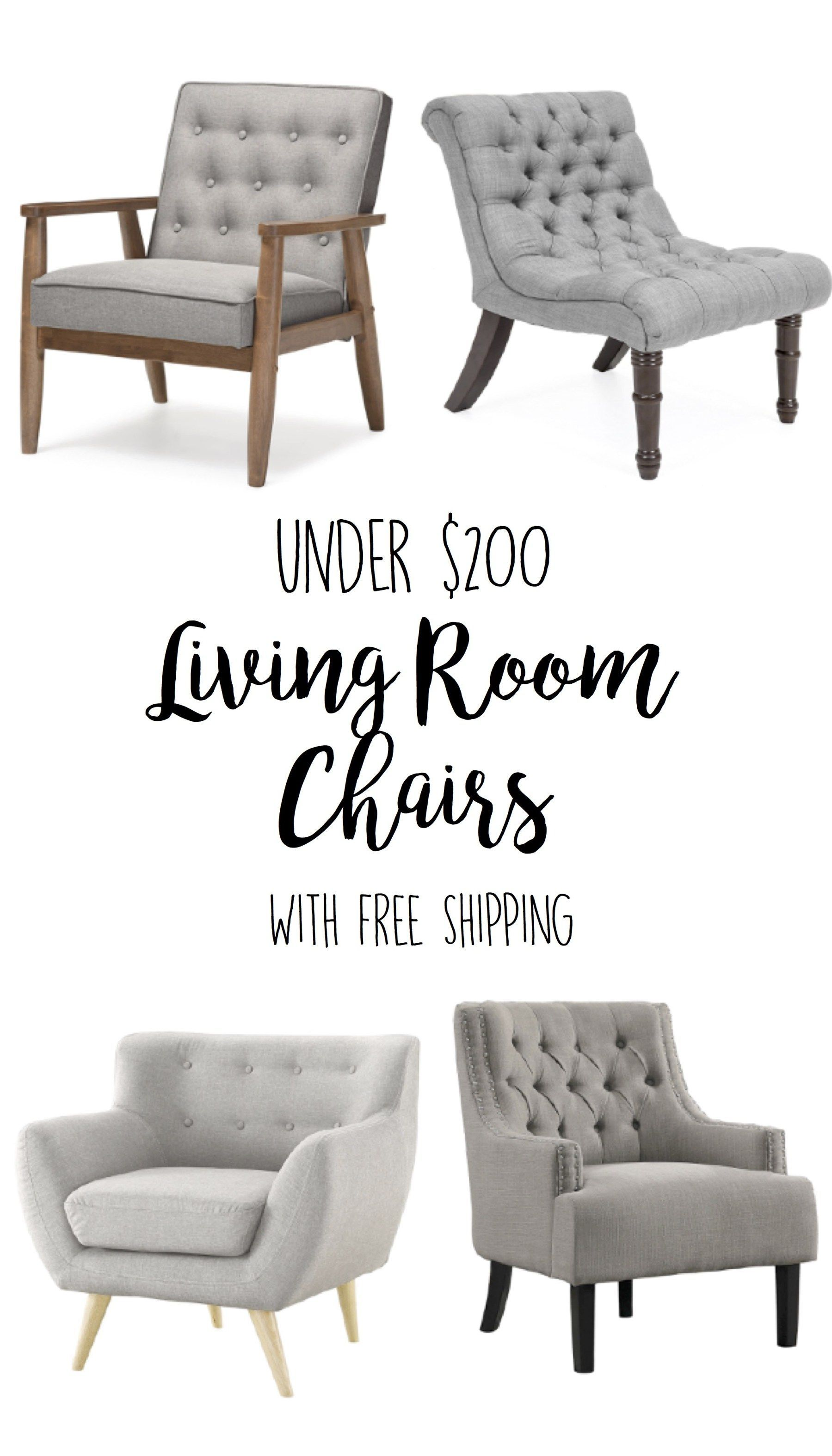 Living Room Chairs Comfy Apartment Decorating Farmhouse Accent