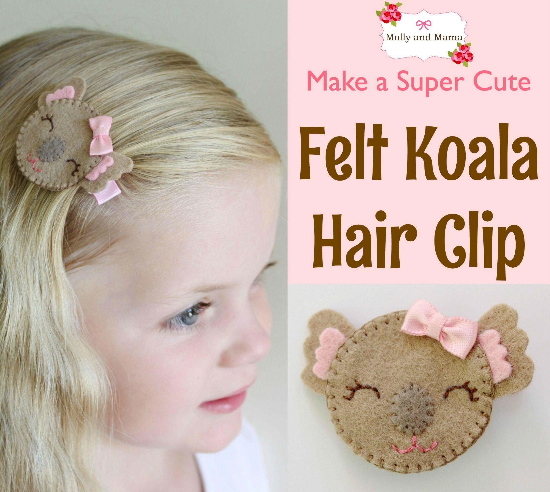 Make A Koala Hair Clip Sewing Tutorials And Tips Sse