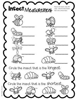 FREEBIE-Insect Measurement Math Center for K-1--Measuring