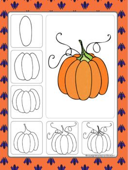 Free Pumpkin Directed Drawing Pumpkin Drawing Halloween Art