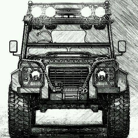 dessin de land rover page 5 defenders jeeps and broncos jeep cars land cruiser suv camping. Black Bedroom Furniture Sets. Home Design Ideas