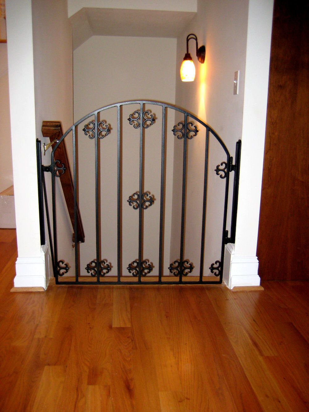 child safety gate at top of stairs iron designs By