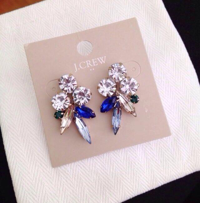 crystal earrings #jcrew