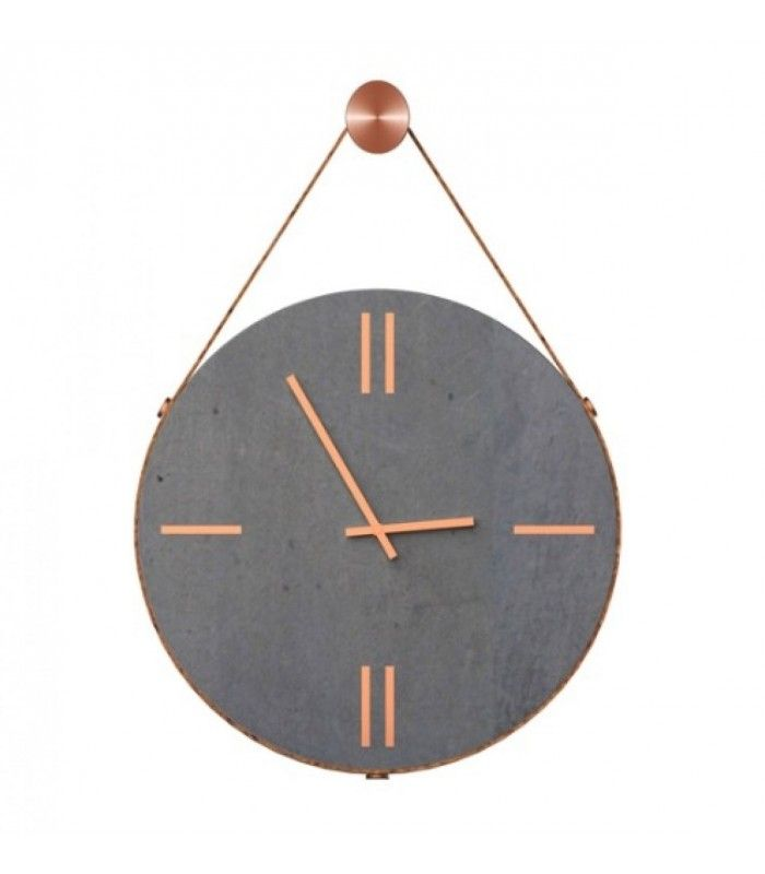 horloge murale ronde noire effet marbre diam 30cm horloge design horloge et ciment. Black Bedroom Furniture Sets. Home Design Ideas