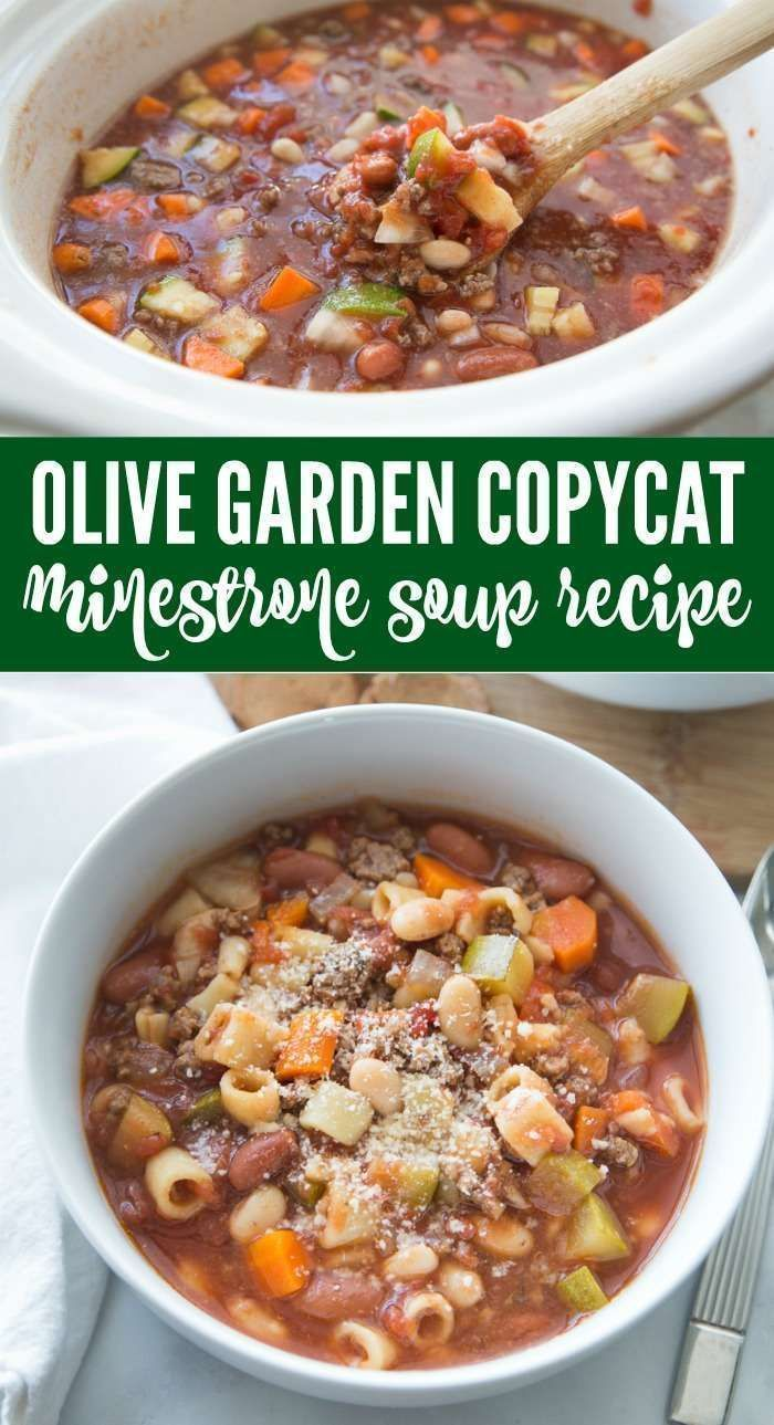 The Best Copycat Olive Garden Minestrone Soup Recipe! – Passion For Savings
