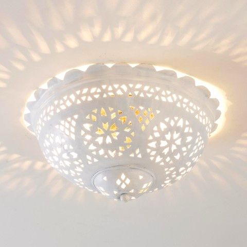 Moroccan Scalloped And Punched Metal Semiflush Ceiling Light Bedroom Ceiling Light Ceiling Light Shades Ceiling Light Covers