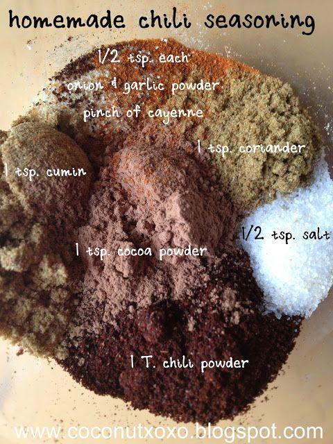 Homemade #Chili Seasoning with Cocoa Powder