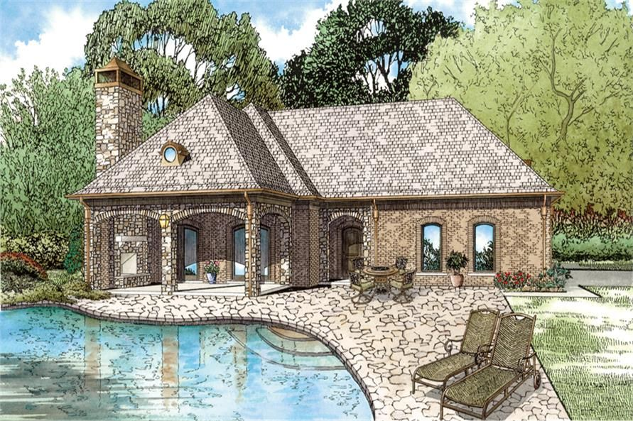 Front Elevation of this Cottage House / Guest House / Pool House ...