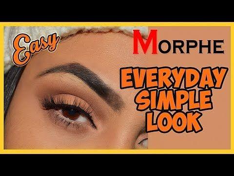 everyday simple brown eyeshadow tutorial  morphe 350