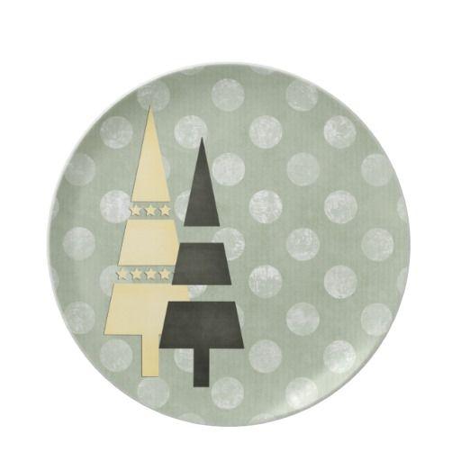 Christmas 1 : Trees Big Dots Green Dinner Plate 3