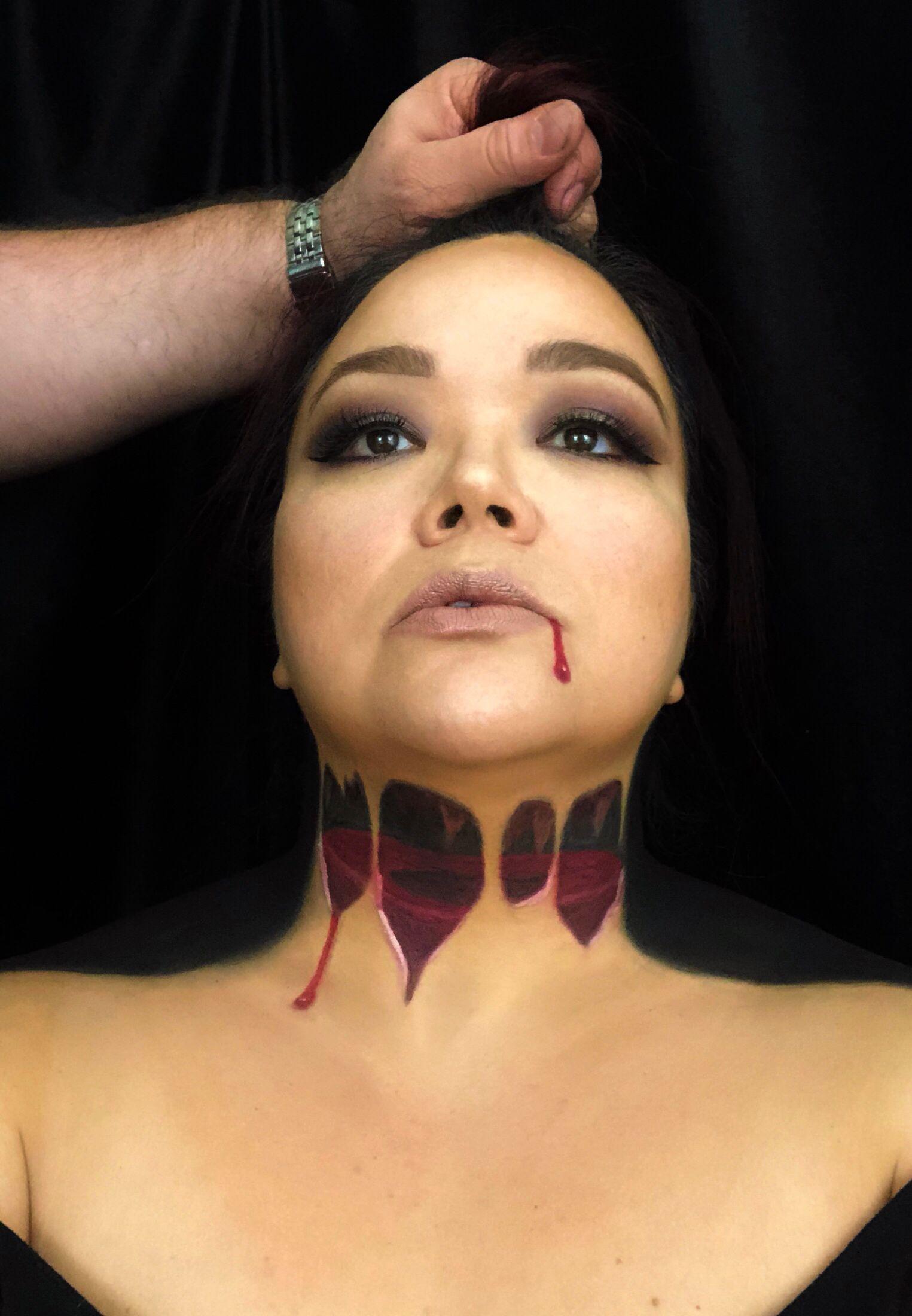 optical illusion makeup headless halloween costume halloween makeup creepy makeup sfx