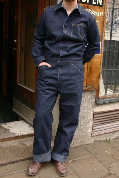 b3455bef4513 1920s Levis denim jumpsuit