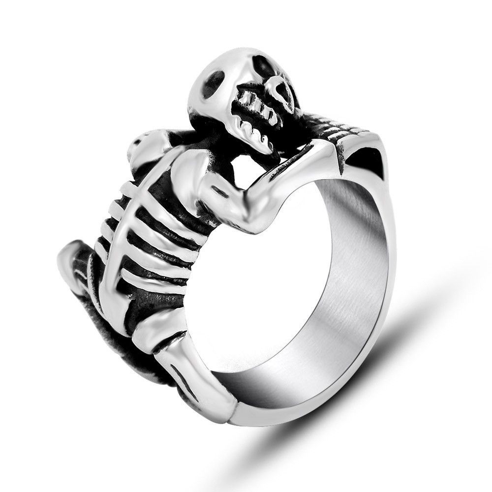Hot Explosion Models Cute Skull Rack Ring Personality Necessary Influx Of Men SA511